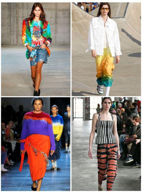 Fashion model, Fashion, Runway, Clothing, Orange, Street fashion, Fashion show, Yellow, Fashion design, Electric blue,
