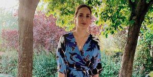 Tamara Falcó con vestido de invitada, de Diane von Furstenberg