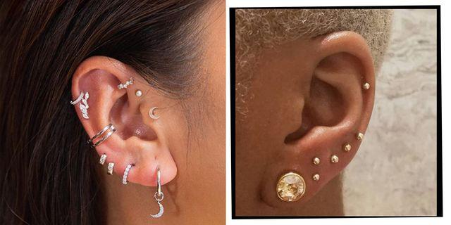Ear Piercings Multiple Ear Piercings Inspiration For Curating Your Ear Constellation