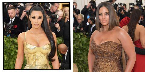 Kim Kardashian and Ashley Graham at the Met Ball