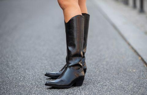 ventas calientes diseño elegante lo mas baratas Botas de temporada de otoño tendencia-Botas cowboy altas ...