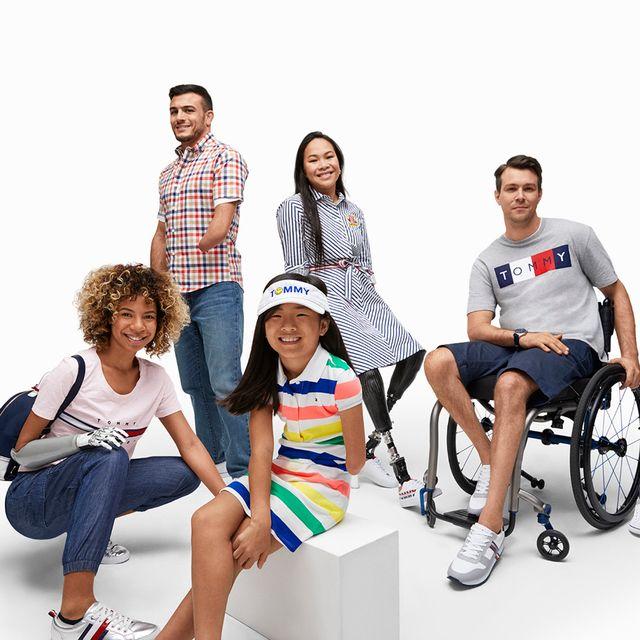 foto de la campaña tommy hilfiger adaptive con personas con alguna discapacidad