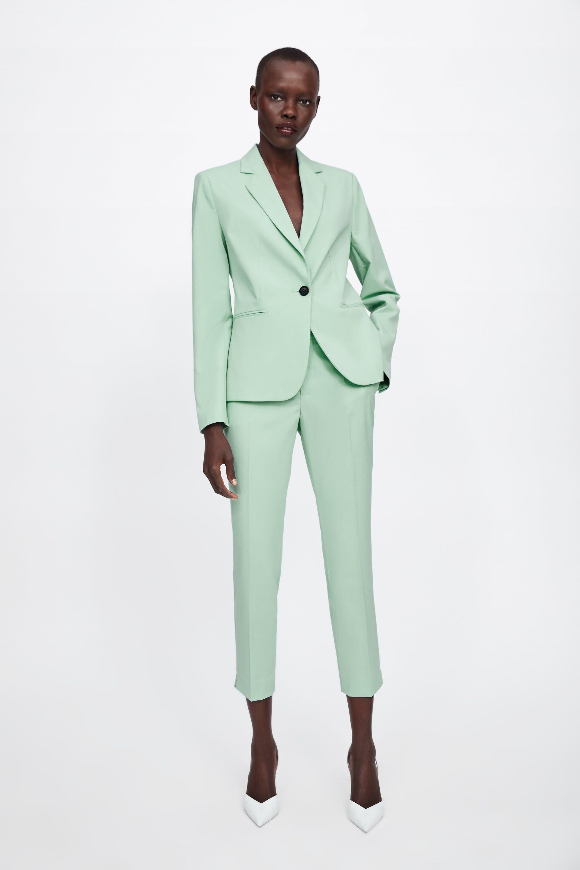 Vestido verde zara mujer