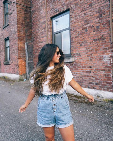 Denim, Clothing, Shoulder, Photograph, Jeans, Street fashion, jean short, Blue, Beauty, Waist,