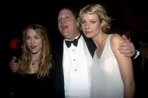 Harvey Weinstein, Madonna and Gwyneth Paltrow on the feast of Miramax by the golden Globes elle.it is
