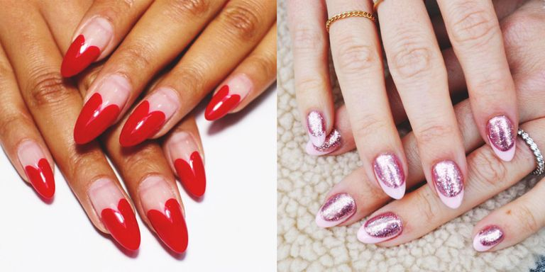 Valentine's day nails, of course—how else are you supposed to properly  'Gram your gifts? We present 20 nail art ... - 20 Easy Valentine's Day Nail Art Designs - Cute Valentine's Day