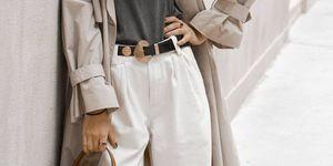 pantalon blanco slouchy chino vaquero blanco barato bershka