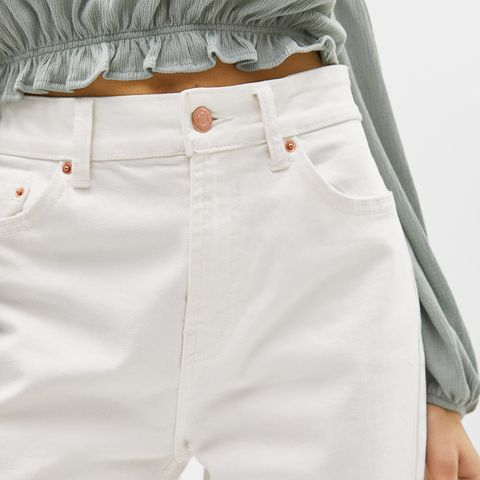White, Clothing, Shorts, Pocket, Waist, Khaki, Bermuda shorts, Abdomen, Button, Trousers,