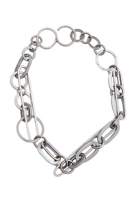 Body jewelry, Bracelet, Chain, Fashion accessory, Jewellery, Platinum, Silver, Silver, Metal,
