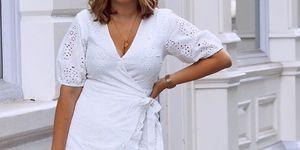 vestido blanco bordado cruzado amazon prime day oferta