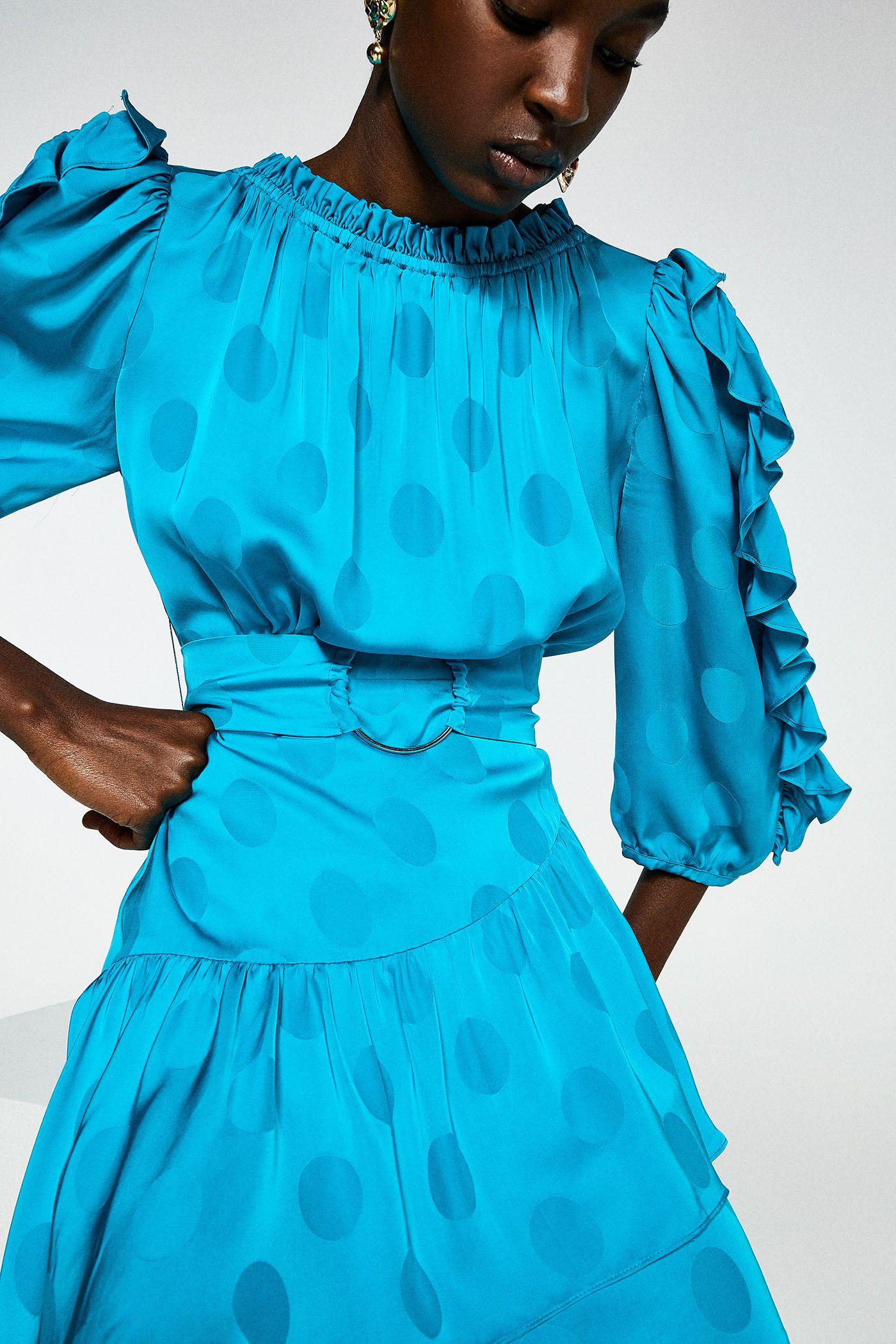 Productos talla 40 brillante en brillo El vestido corto de Sfera de manga larga abullonada más ...
