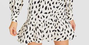 vestido corto manga larga barato stradivarius
