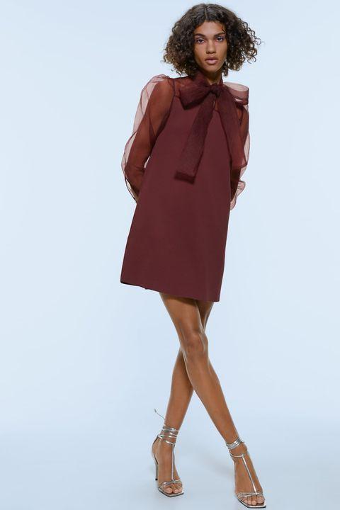 último estilo de 2019 mejor sitio web venta de liquidación Un vestido corto de organza y lazo de Zara espectacular