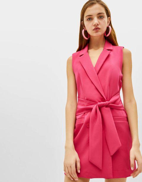 be7724b6b Vestidos cortos rosas de invitada de Mango