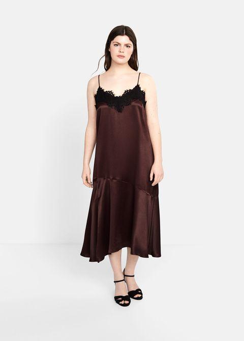 4309c2bab vestidos largos midi invitada baratos tallas grandes violeta by Mango