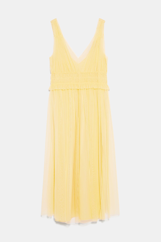 Amarillo 30 De € Cerca Es Tul Lo Este Zara Más Vestido Largo MVzpqSU