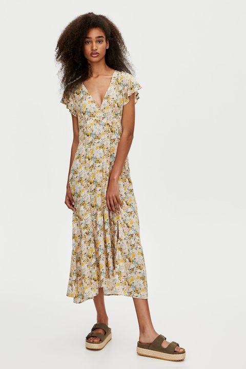 El Vestido Largo Estampado De Pull Bear Con Las 5 Tendencias Más Top