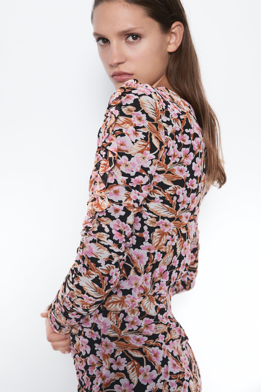 Ves largo de flores Zara