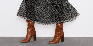vestido largo leopardo zara