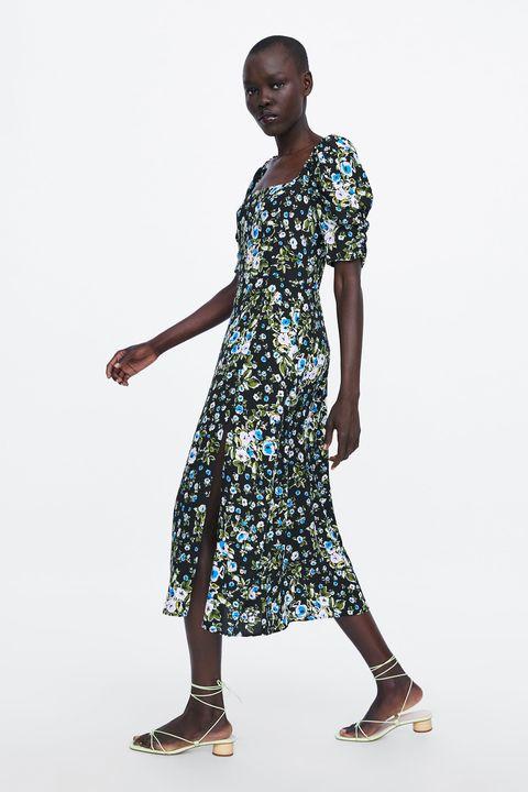 dbb2e7dd9f El vestido largo de flores con manga de Zara para trabajar y de boda