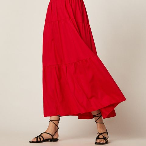 Un vestido largo de Oysho de alfombra roja
