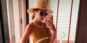 Alexandra Pereira vestido largo estampado tie-dye Mango