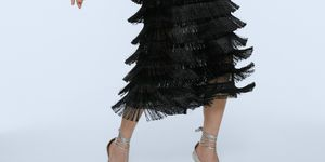 vestidos negro flecos fiesta edicion limitada zara