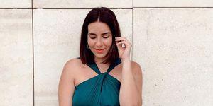 vestido largo invitada barato oysho talla grande instagramer