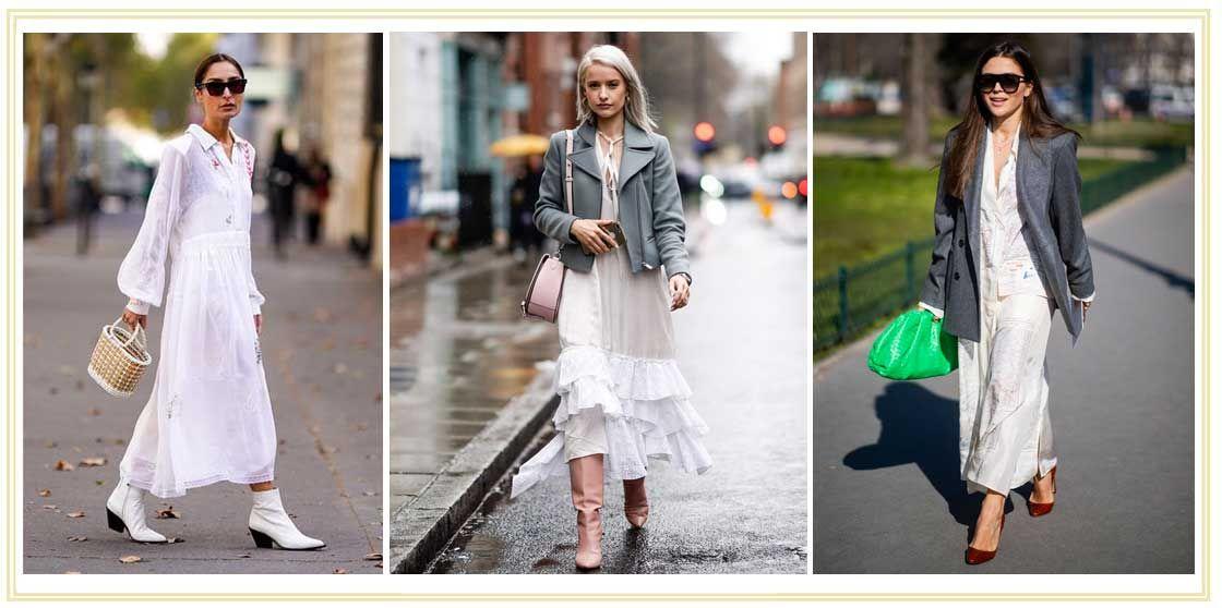 e15a36478 Los looks con vestido blanco para entretiempo - Vestidos blancos de ...