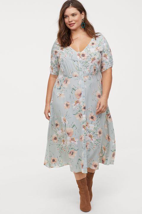 b2f153c6d29 Los vestidos cortos, midi y largos de H&M para tallas grandes de ...