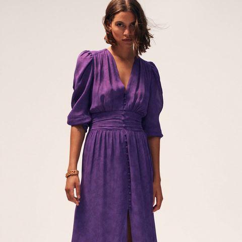 el vestido largo de manga larga más elegante y bonito de zara