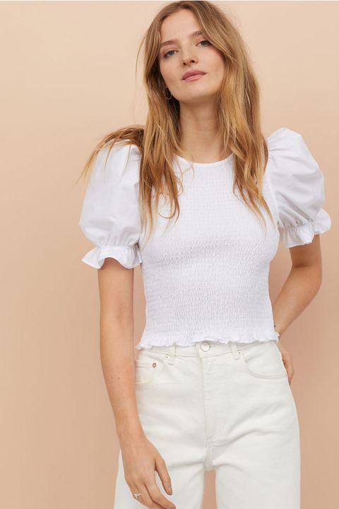 8 vestidos y tops de nido abeja de Mango, H&M y Zara con los
