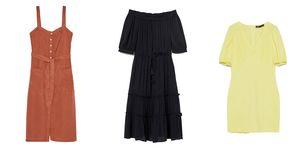vestidos cortos largos midi rebajas zara mango