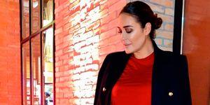 Vicky Martín Berrocal vestido largo rojo americana negra Zara