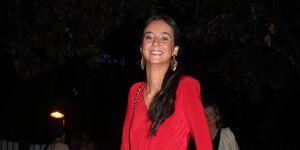 Victoria Federica con vestido de fiesta rojo