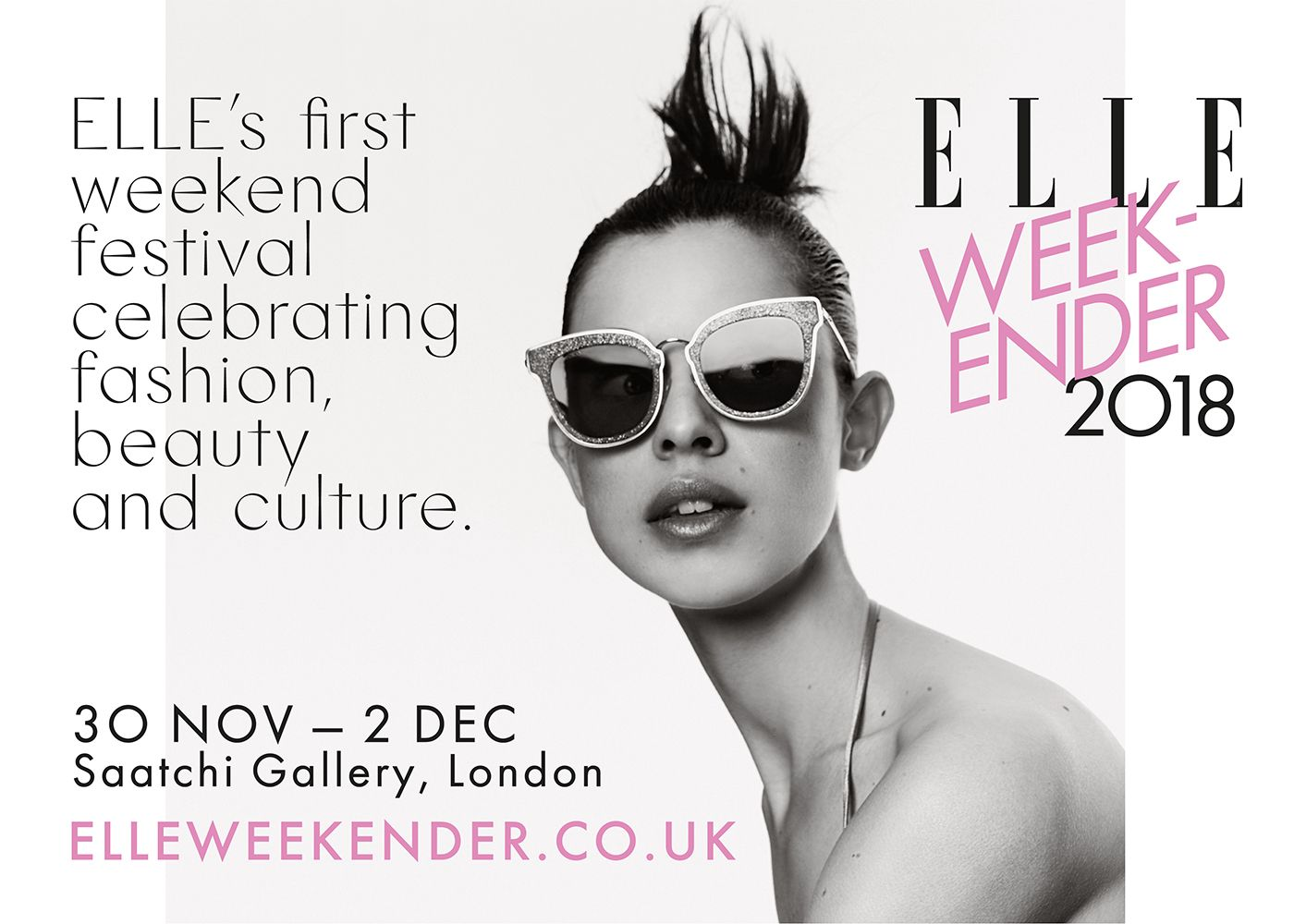 ELLE Weekender, pop up forfahion, beauty, wellness, culture, Saatchi Gallery,London