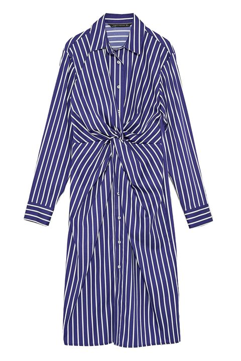 Clothing, Day dress, Sleeve, Blue, Robe, Purple, Dress, Outerwear, Violet, Collar,