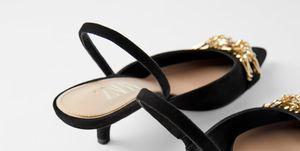 zapatos negros fiesta tacon bajo baratos zara
