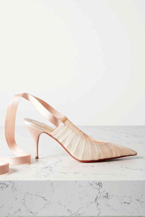 zapatos novia tacón bajo christian louboutin