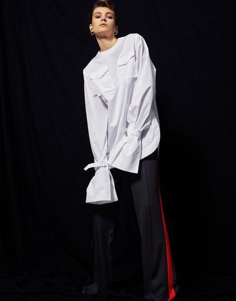 White, Clothing, Uniform, Fashion, Formal wear, Sleeve, Outerwear,