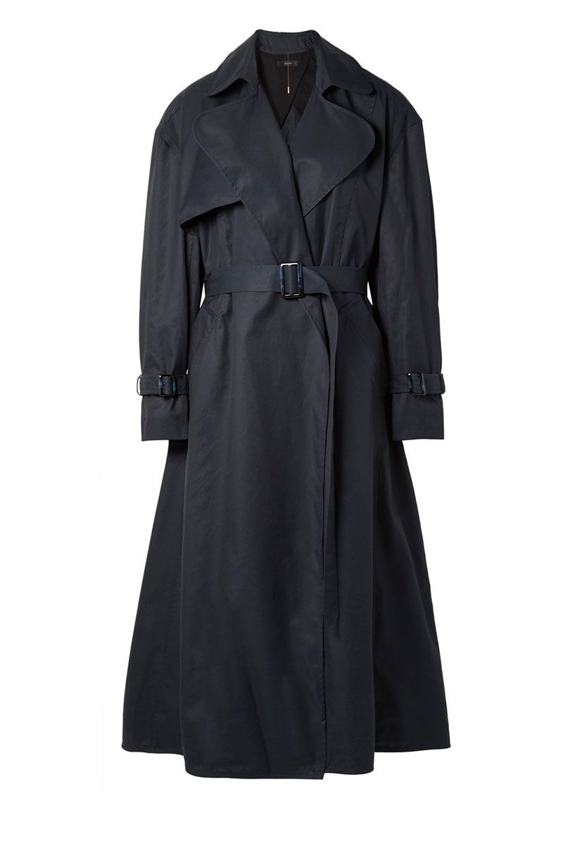 Navy trench coat by Ellery