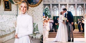Ellie Goulding在婚禮上穿Chloé的訂製婚紗