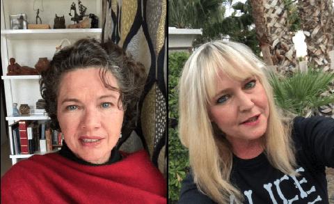 heather langenkamp y lisa wilcox en un video de pesadilla en elm street contra el coronavirus