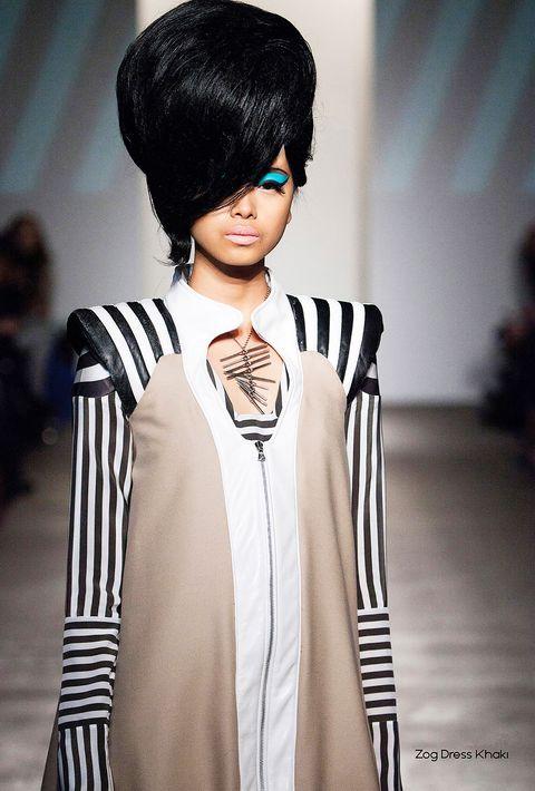 Hair, Fashion model, Face, White, Fashion, Hairstyle, Bangs, Black hair, Skin, Beauty,