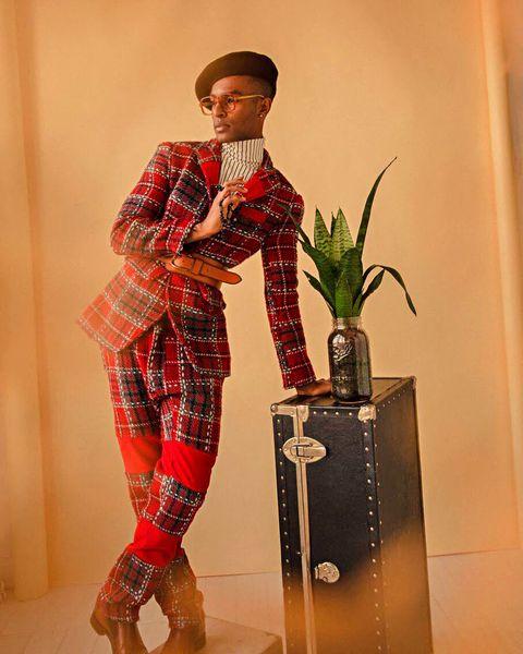 Fashion, Textile, Design, Tartan, Plaid, Fashion design, Plant, Shoe, Costume, Style,