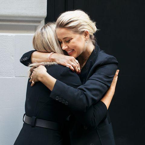 Jennifer Robinson and Amber Heard