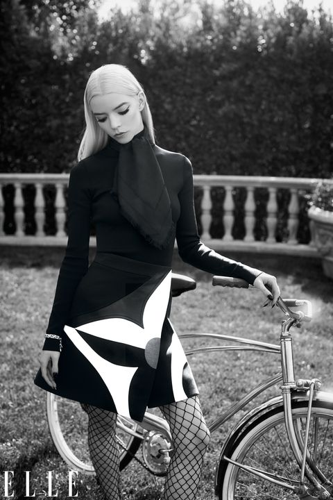 anya taylor joy and bicycle for elle