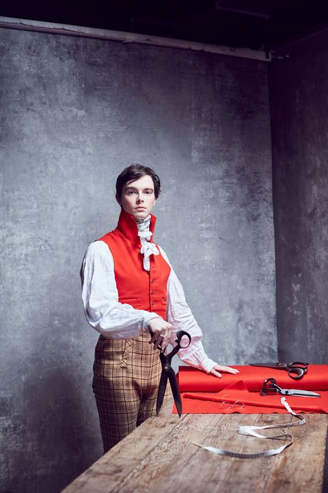 zack pinsent of pinsent tailoring photographed by alun callender at the rodhus pop up studio