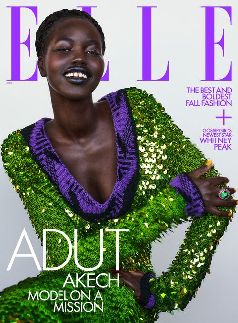adut takech on the august 2021 cover of her