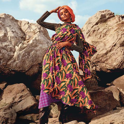 People, Clothing, Beauty, Pink, Dress, Tribe, Landscape, Photography, Stock photography, Adaptation,